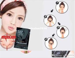 Masque noir en porcelaine en Ligne-Gros 100pcs / lot Facial Minéraux Conk Nez Comédons Dissolvant Masque Pores Nez Noir Tête EX Bandes De Pores China Post Livraison Gratuite