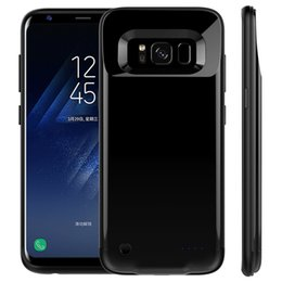 Wholesale External Battery Back Case - For S8 S8 Plus Power Case External Backup Battery Case Power Back Cover Phone Case For Samsung S8 S8plus With Retail Packing