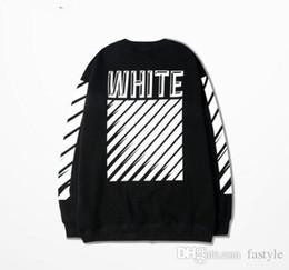 Wholesale Mens Hoodies Hiphop - Off White Hoodie Mens Sports Suits Justin Bieber Clothing Hiphop Sweatshirt Striped Cotton Fleece Grey Sweatshirt Gd Bts 3XL