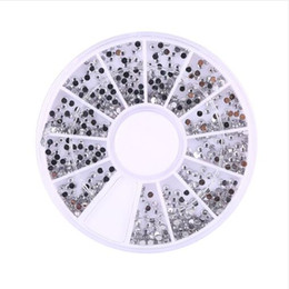 Wholesale Stickers Ongles - New hot sale 3600pcs Silver 1.5mm Nail Art Rhinestones Decorations Diamante Crystal Glitter Wheel Beauty Manicure Stickers Ongles For Nails