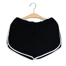 Wholesale Bind Fly - Wholesale- Premium Women Sports Shorts Running Yoga Women Cotton Sports Shorts Binding Side Elastic Waist Running Shorts Gifts