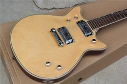 Wholesale Electric Guitars Double Cutaway - Free shipping Double Cutaway Solid Body High Quality Replica Guitar G6131MY Malcolm Young II Natural Electric Guitar Chrome Pickups & Tuners