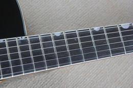 Wholesale Guitar Korean - Factory Custom black Ebony fingerboard Falcon 6120 Semi Hollow Body Korean Tuners Jazz Electric Guitar