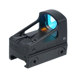 Wholesale Tactical Mini Red Dot Sight - Tactical RMS Reflex Mini Red Dot Sight With Vented Mount and Spacers For Glock Pistol Aluminium Black