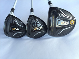 Wholesale Golf Complete Sets - M2 Wood Set M2 Golf Woods Golf Clubs Driver + Fairway Woods R S Flex Graphite Shaft With Cover