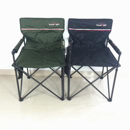 Wholesale Audio Used - 13*85Cm Folding Director Chairs Audio Sturdy Chair Light Green Black Color Lounge Chairs Two Pockets Sided Foam Handrail Indoor Outdoor Use