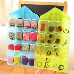 Wholesale Hanging Door Pocket Organizer - Fashion Home Multifunction Storage Bags Home Organization 16 Pockets Jewelry Hanging Organizer vacuum space saver storage bags