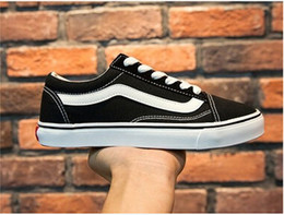 Wholesale Sneakers Mens Brands - Classic Old Skool Low Cut Casual Canvas Shoes Classical White Black Brand Women And Mens Sneakers Skateboarding Shoes
