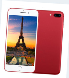 Wholesale Unlock Smart - Smart Hot New Goophone i7 Plus 2G Red Special Custom Version of Smart phone I7+ Phone T Unlock MobilePhone HD display