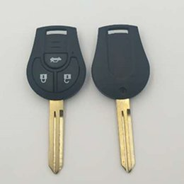 Wholesale Sentra Nissan Remote - New remote head key with 315MHZ for Nissan Versa Cube 3 button remote key control 5pcs lot