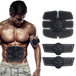 Wholesale Body Muscles - Abdominal Muscle Toner Body Toning Fitness Training Gear Abs Fit Training ABS Fit Weight Muscle Training Ab Belt Toning Gym Workout