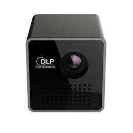 Wholesale Micro Video Projectors - In Stock Hot New P1H HD Mini Small Projectors Home Cinema Theater LCD Led Micro Projectors support TF USB AVI FLV