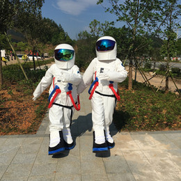 Wholesale Canvas Backpack Adult - High Quality Space suit mascot costume Astronaut mascot costume with Backpack with LOGO glove,shoes, Free Shipping Adult Size