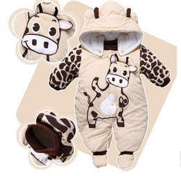 Wholesale Hat Shoes - 2016 Animal Style Hooded Baby Rompers Boys Girls Clothes Outfits Jumpsuit + Hat + Shoes Newborn Clothing Set