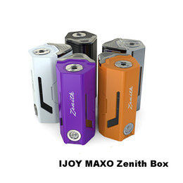 Wholesale Power Bank Connectors - IJOY MAXO Zenith VV Box MOD with Spring-loaded 510 Connector Stylish Appearance with Magnetic Back Cover Function as Power Bank