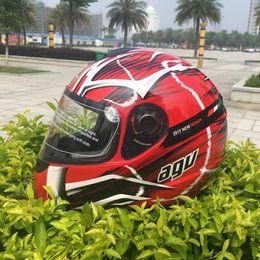 Wholesale Full Face Motorcycle Helmet Dot - 2017 New AGV motorcycle helmet racing full face helmet men motociclistas capacete DOT M L XL XXL black
