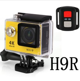 Wholesale Camera Action - 4K orginal Eken H9R Action Camera With Remote Go Pro Camera Wifi Waterproof Recorder 170 Degree Car Drone Shockproof Bycycling Sports Camera