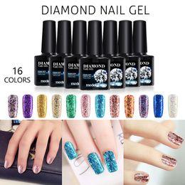 Wholesale lamp uv diamond - Modelones Shiny Diamond Nail Gel Polish Colorful Glitter Gel Polish UV Soak Off Gel Nail Polish Need UV Led Lamp Nail Gelpolish