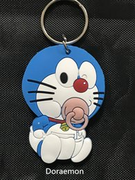 Wholesale Doraemon Car Accessories - Doraemon PVC cats key chain car accessories Cute cartoon lovers keychain Boys and girls the gift