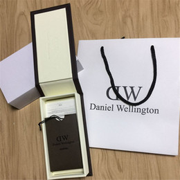 Wholesale Wholesale Original Watches - Luxury Brand Daniel Wellington Watch Box Dw Original Watch Box With Instructions And Manual Case 14*8*3cm Without Watch DHL Free