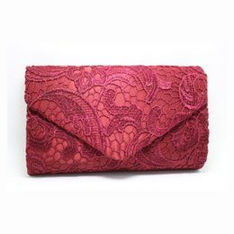 Wholesale Silver Prom Handbags Clutches - Wholesale-2016 Women Luxury Lace Floral Evening Bag Gold Day Clutch Silver Prom Wrist Bag bolsa feminina Bridal Party Handbag Purse H316