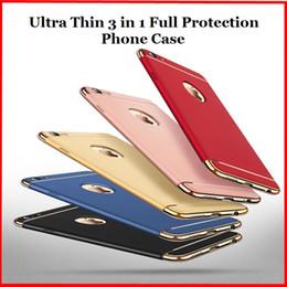 тонкие сотовые телефоны Скидка Ультра тонкий полная защита 3 в 1 сотовый телефон случае роскошные задняя крышка для iPhone 6 S 7 Plus 8 Samsung S8 Примечание 8