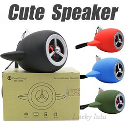 Wholesale Nice Mobile Phones - NEW Aircraft Cartoon Bluetooth Speakers NR-1015 Nice Sound Toy Bluetooth Mini Speaker With TF Card USB Slot DHL Fsat shipping