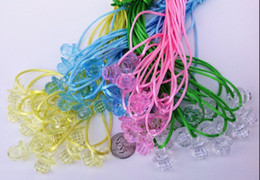 """Wholesale Necklace Pacifier - mini pacifiers 1"""" Fancy Pacifier Necklaces for """"Don't say Baby"""" Baby Shower Game U-Pick Colors 500pcs"""