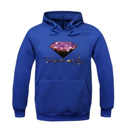 Wholesale Diamond Star Neck - Europe and the United States Sports Star Diamond Mens cashmere sweater fashion plus Hoodie sleeve head cotton Hoodie