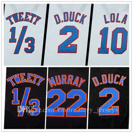 Wholesale Quick Drying - Film version Tune Squad Stitched Jersey Mens 1 3# Tweety #! Taz #1 Bugs #2 D.duck #6 #10 Lola #22 Murray #23 #30 Basketball Jersey,air dunk!