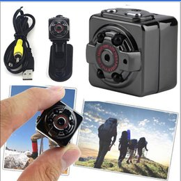 Wholesale Mini Dv Sports Cam - DHL HD 1080P Sport Spy Mini Camera SQ8 Mini DV Voice Video Recorder Infrared Night Vision 720P Digital Small Cam Hidden Camcorder