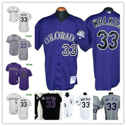 Wholesale Wholesale S Baseball Jersey - Mens Purple Colorado Rockies #33 Larry Walker white retired 1997 Black Mesh BP Gray stitched baseball Cooperstown collection retro jerseys