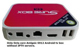 Wholesale Pandora Red Box - ARABIC IPTV Brazil Italy Latino Turkish France Greek USA Spainese TV box E8 plus Octa Core Amlogic S912 with 2700+ cahnnels 4K KD play 17.3