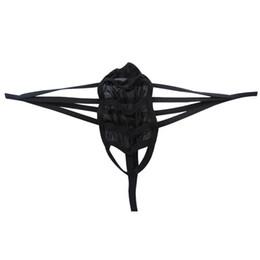 Wholesale Transparent Nightwear Plus Size - IEFIEL Sexy men's Lingerie underwear G-Strings transparent breathable Thong man nightwear G String