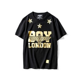 Wholesale Opens Clothes - 1205 Eagle Hip Hop moleton masculino Casual Boy London shirt Golden Women Mens clothing Pullover Stars British t shirt Skulls mens S-XXXL