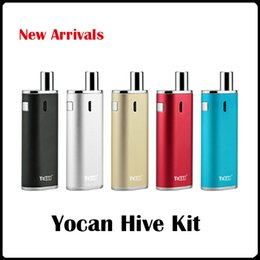 Wholesale Yocan Hive Kit Kind of Atomizer For Wax Oil electronic cigarettes in1 vape pen vaporizer VS Yocan Evolve plus