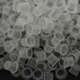 Недорогие татуировки онлайн-Wholesale-Free shipping 100pcs Plastic 12mm Tattoo Ink Cups Caps Holder Supplies Make Up Cup High Quality With Cheap Price