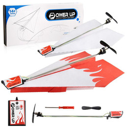 Wholesale Conversion Sets - Power Up Electric Paper Plane Airplane Conversion Kit Flying Paper Plane Educational Toy Kids Gift 100 Sets OOA3403