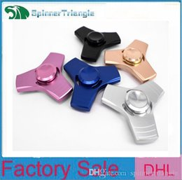Wholesale Wholesale Music Box For Kids - EDC Tri-Spinner Fidget Toy Hand Spinner Aluminum Alloy Fidget Spinner For Kids Adult Relief Stress Education Toys with Retail Box