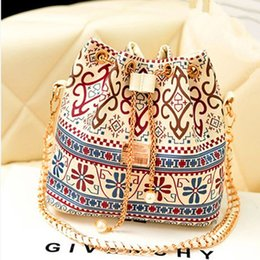 Wholesale Handy Print - Handy messenger bucket handbags canvas printing 2017 new women crossbody bag national shoulder bags