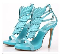 Wholesale Stripes High Heels Sandals - Hot sale Sexy Europe style metal flame leaves elegant stripe hollow-out peep-toe shoes high-heeled sandals water proof table Female shoes
