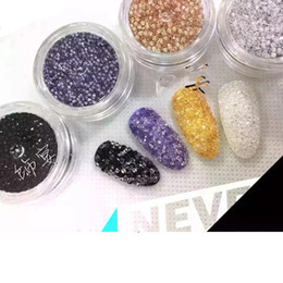 Wholesale Jewel Nail Art - Wholesale- 1440pcs lot Manicures Mini Glitter Rhinestones for Nails Arts Decoration Glass Fingernail Crystals Jewel Supplies 1.2 to 1.5mm