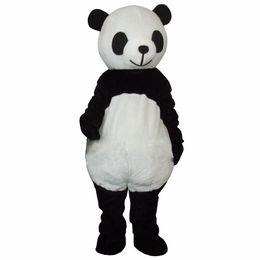 Wholesale Mascot Costume Wedding - Cheap New wedding Panda Bear Mascot Costume Fancy Dress Adult Size free shippng