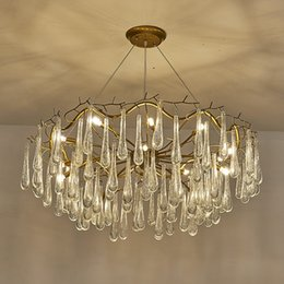 Wholesale Chandelier Stores - led Pendant Lamps G9 K12 dendriform crystal chandelier American retro example room restaurant cafe clothing store droplight lighting