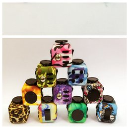 Wholesale adult tv box - Magic Fidget Cube Anti-anxiety Decompression Toy Adults Stress Relief Kids Toy Gift CAMO colors with Retail Box Free shipping LC542