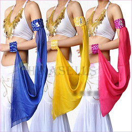 Wholesale Belly Dance Sleeves White - 1pcs Latin Indian dance belly dance arm sleeve armband arm chain dance equipment cuff Performance accessories