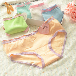 Wholesale Large Ladies Underwear - Women Panties Cheap Mixed colors 12 pieces Large Size Cotton lady panties Briefs girls Student underwears woman underwear L023
