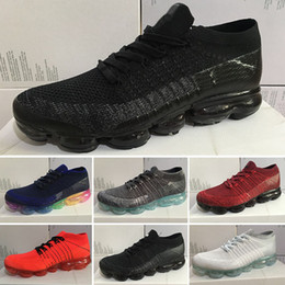 Wholesale New Shoes For Army - 2017 New Rainbow VaporMax 2018 BE TRUE Men Woman Shock casual Shoes For Real Quality Fashion Men Casual Vapor Maxes Sports Sneakers