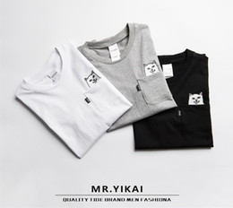 Wholesale Funny Sports Shirts - cat in pocket t shirt 2017 spring summer sport casual rip n dip t shirt men women students love funny ripndip t shirt YBF0914