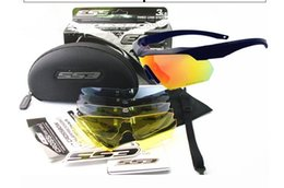 Wholesale Ess Goggles Black - ESS CROSSBOW Tr90 Military Goggles 3 5 lens Polarized Sunglasses Bullet-proof Army Tactial Glasses shooting Eyewear
